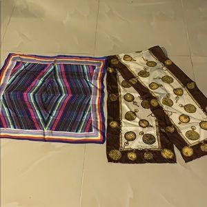 Authentic OSCAR DE LA RENTA silk scarves